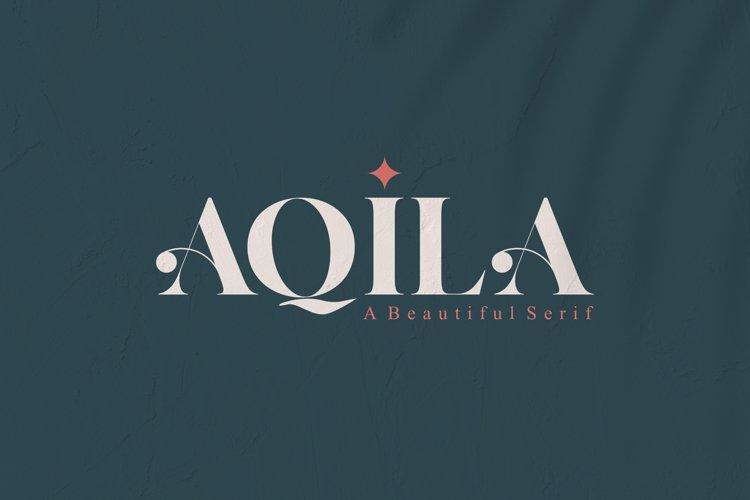 AQILA - A Beautiful Serif
