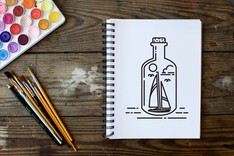 ship in a bottle logo example image 1
