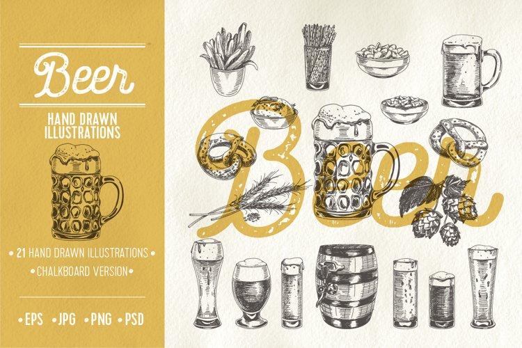 Hand drawn beer illustrations