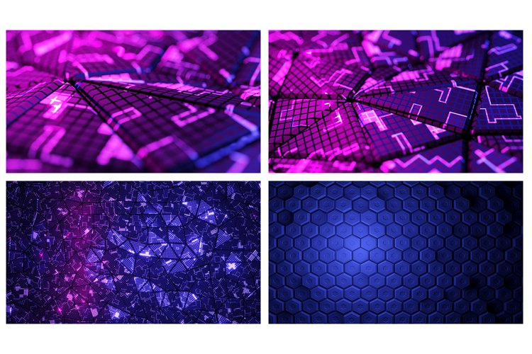 14 abstract futuristic backgrounds