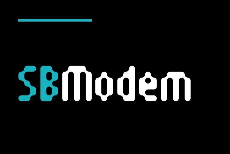 SB Modem - Pixel Style Font example image 1