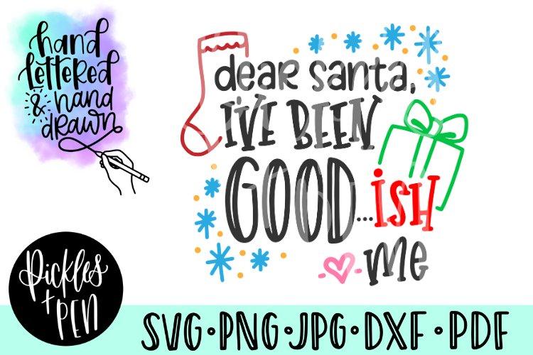 dear santa svg - funny kids christmas svg example image 1