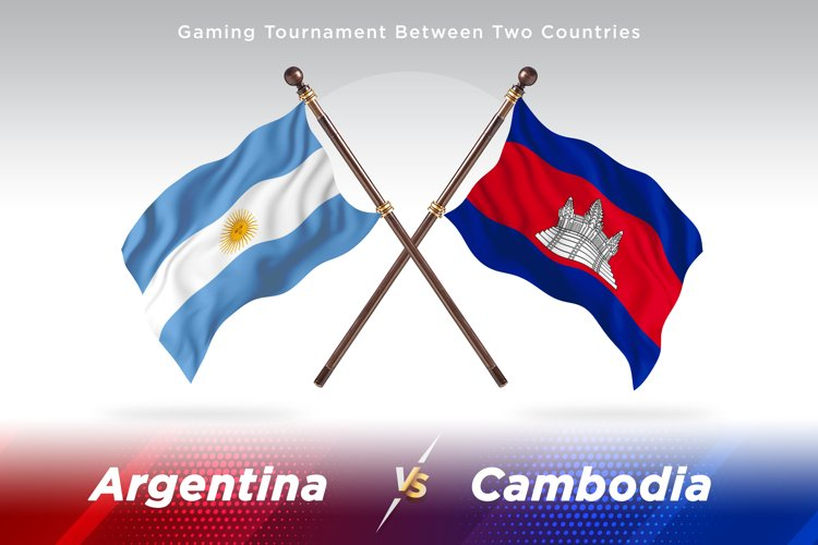 Argentina vs Cambodia Two Flags example image 1
