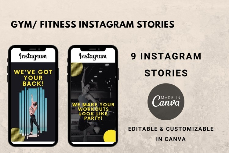 Instagram Story Template- Gym/ Fitness example image 1