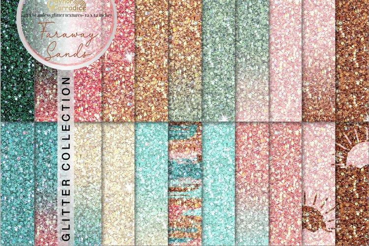 Summer seamless Glitter backgrounds