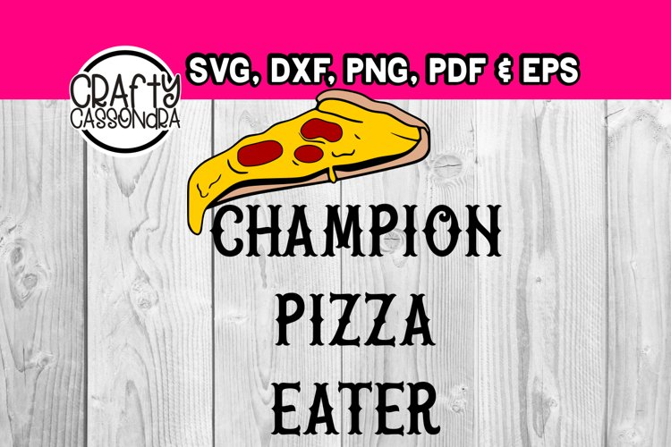 Pizza svg - layered svg - teen boy - Pizza eating campion example image 1