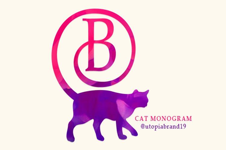 Cat Monogram example image 1