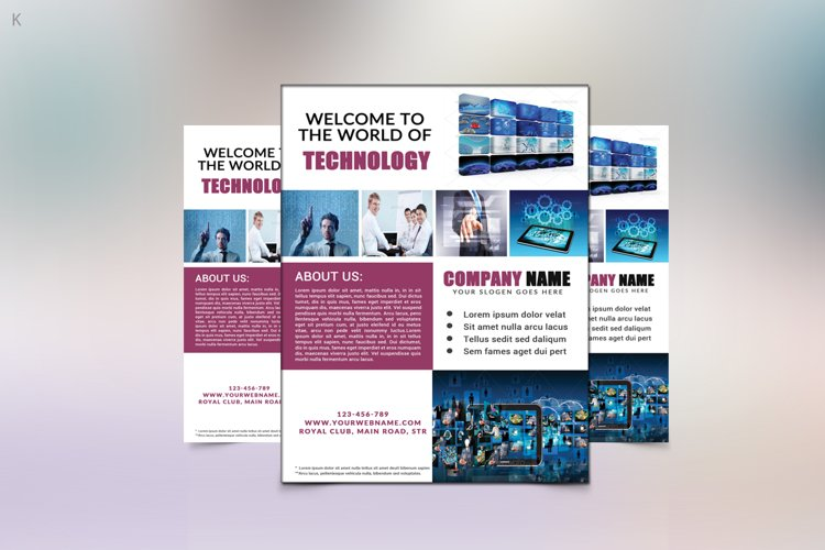 Technology Flyer Template example image 1