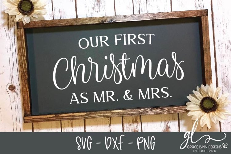 Our First Christmas - Christmas Cut File - SVG, DXF & PNG example image 1