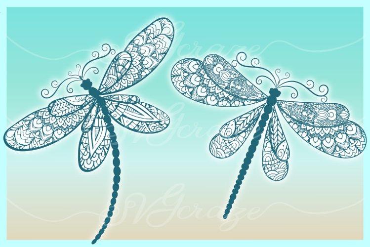 Dragonfly Mandala Zentangle Bundle Svg Dxf Eps Png Pdf Files - Free Design of The Week Design4
