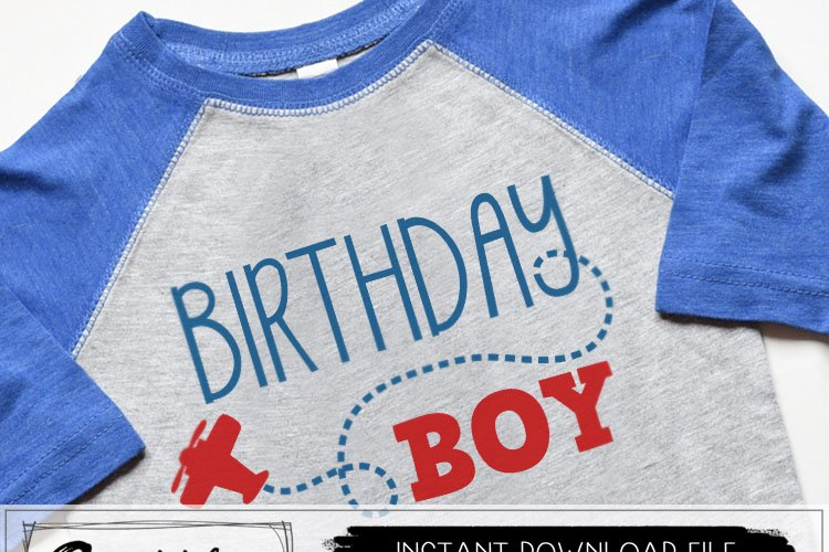Birthday Boy Airplane SVG