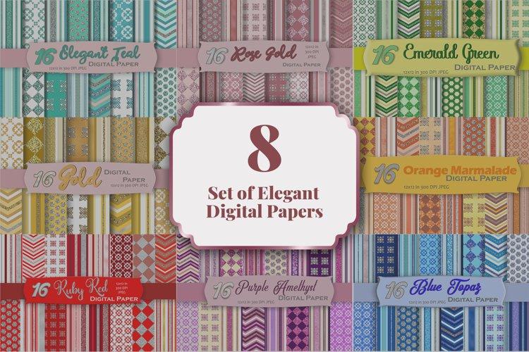 Bundle of Elegant Digital Paper Pack example image 1