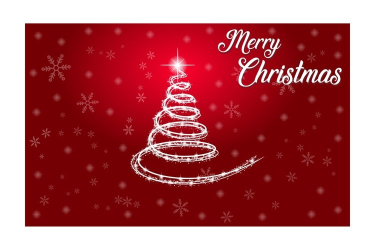 Merry Christmas vector poster example image 1