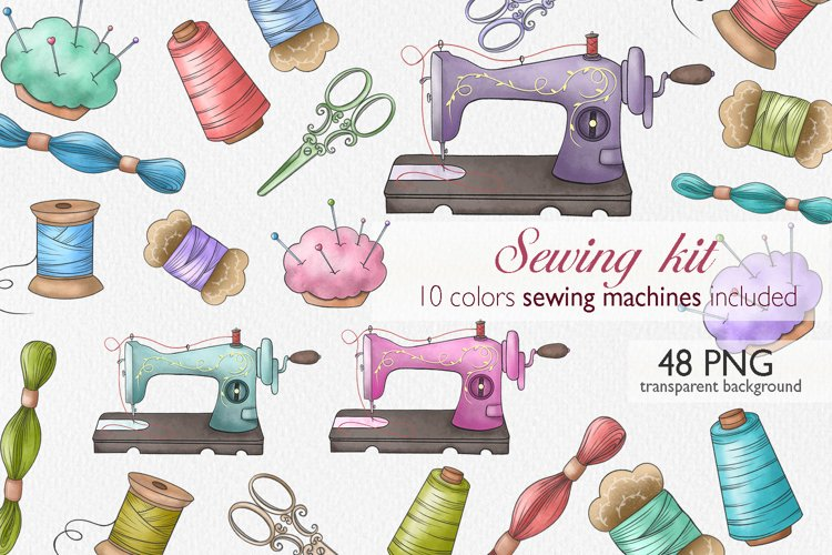 Sewing Clipart, Sewing Machine PNG, Sewing Sublimation Art