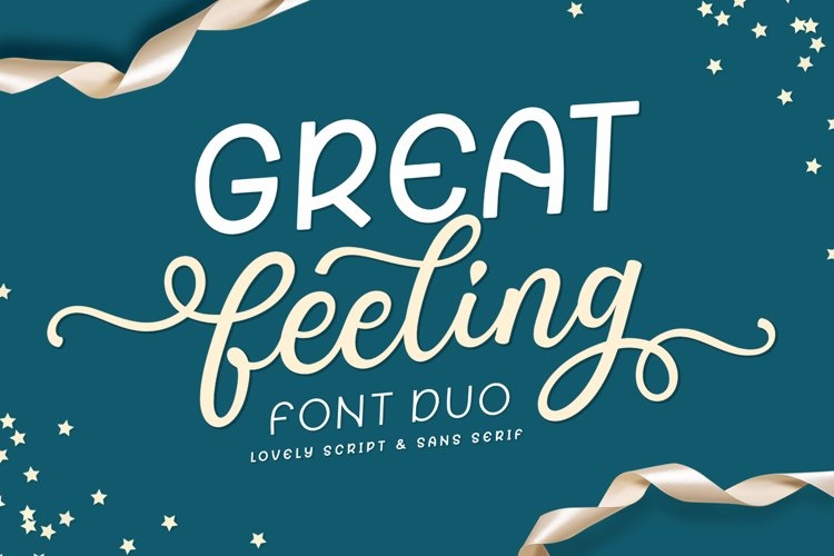 Great Feeling / Lovely Font Duo example image 1