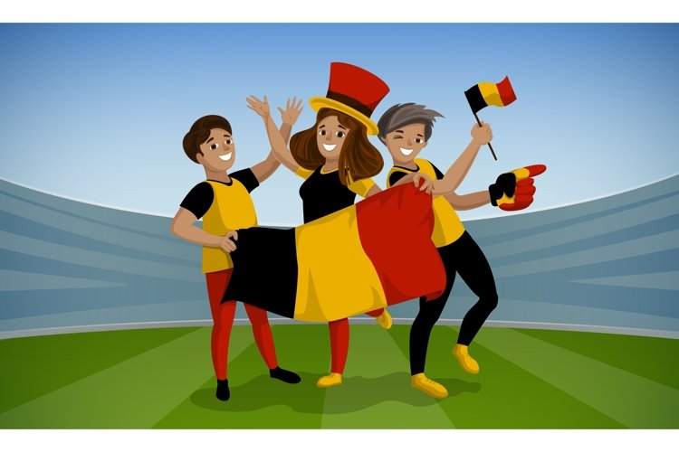 Football day concept background, cartoon style example image 1