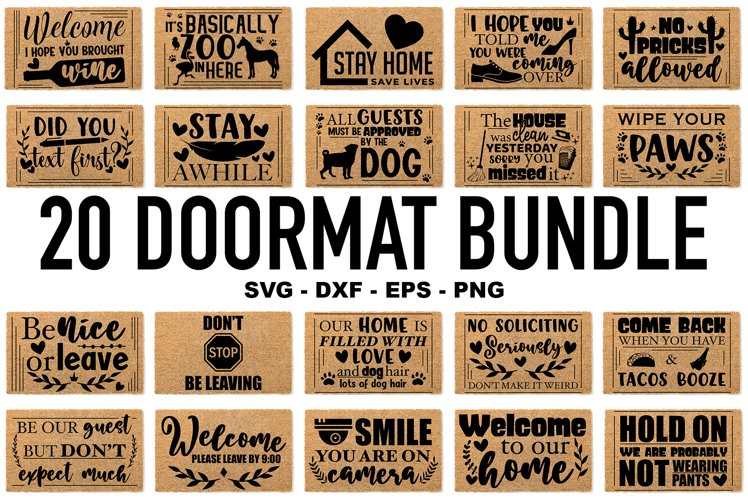 Doormat Bundle SVG - Funny Doormat Quotes - Home SVG