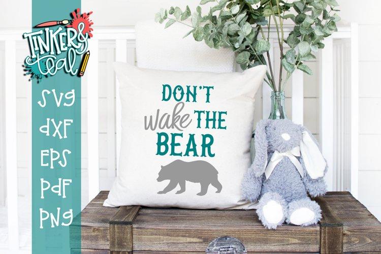 Dont Wake The Bear Nursery SVG example image 1
