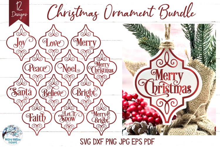 Arabesque Christmas Ornament SVG Bundle |Christmas Ornaments example image 1