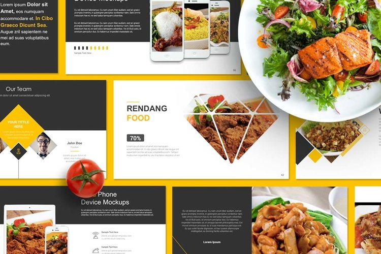 Food Presentation Powerpoint example image 1