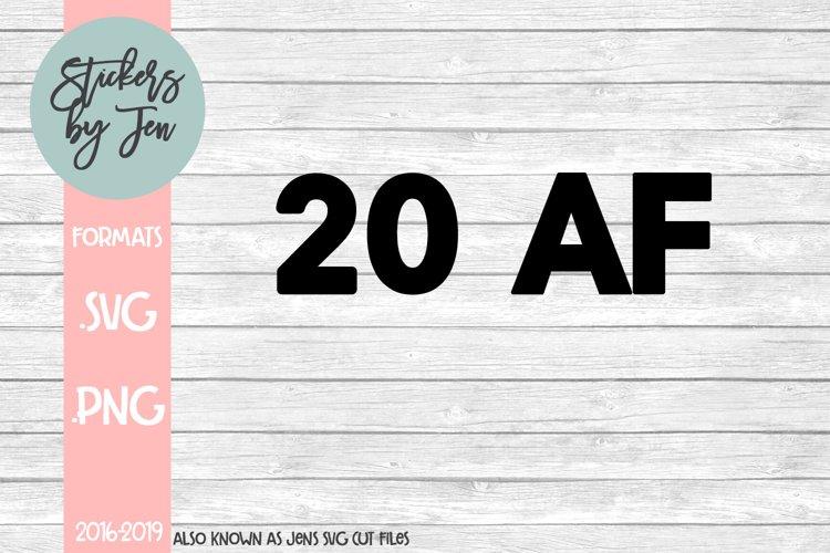 20 AF SVG Cut File example image 1
