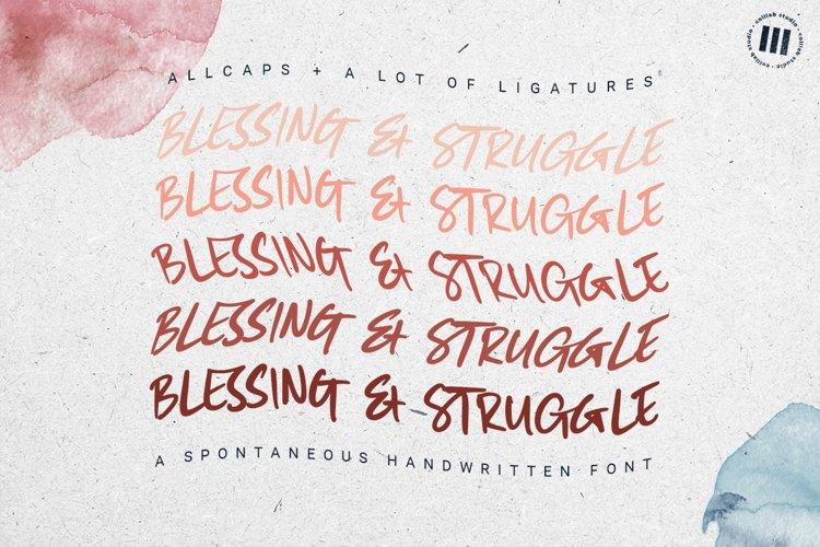 Blessing And Struggle - A Spontaneous Handwritten Font example image 1
