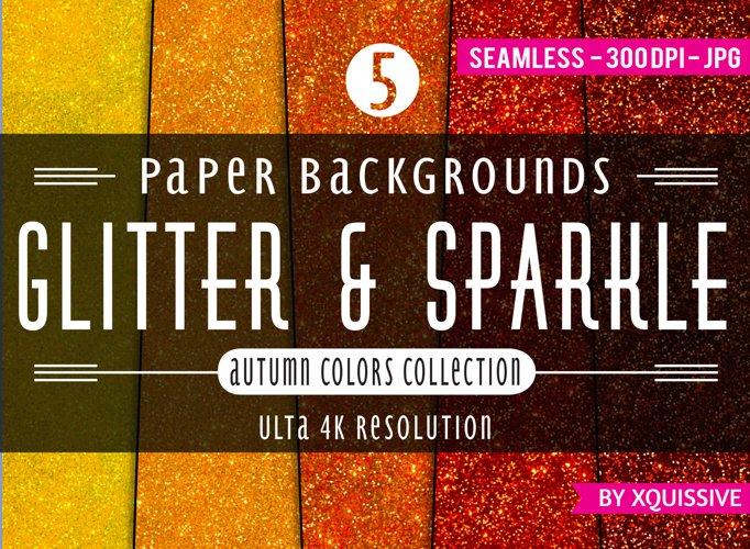 Glitter & Sparkle Paper Backgrounds - The Autumn Bundle example image 1