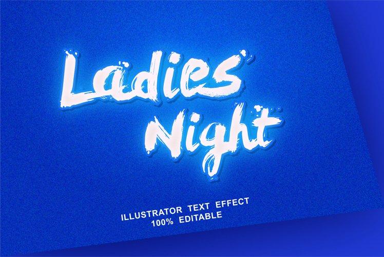 ladies night text effect editable vector example image 1