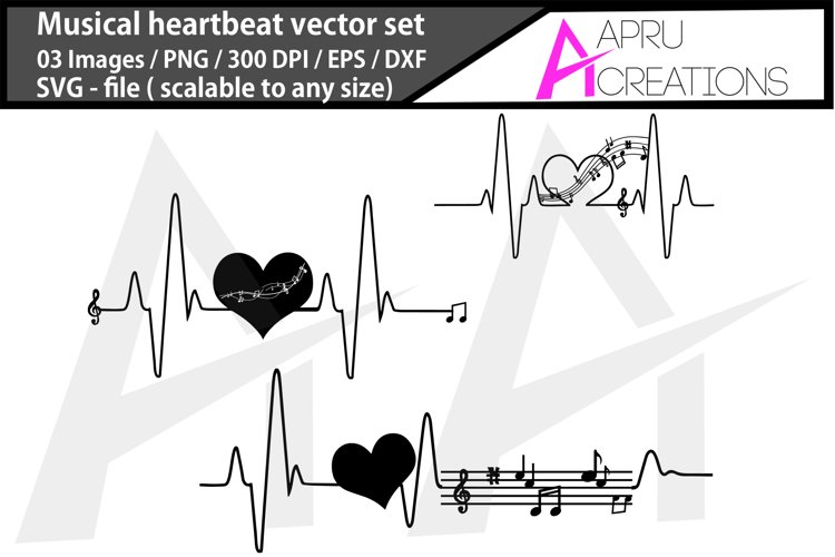 music heartbeat silhouette/music heartbeat svg example image 1