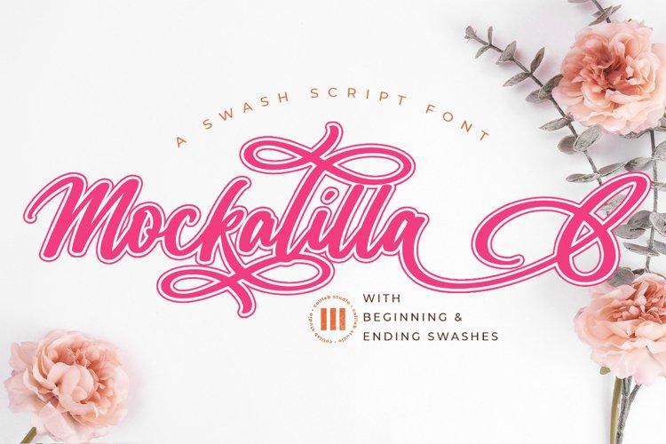Mockalilla- A Swash Script Font