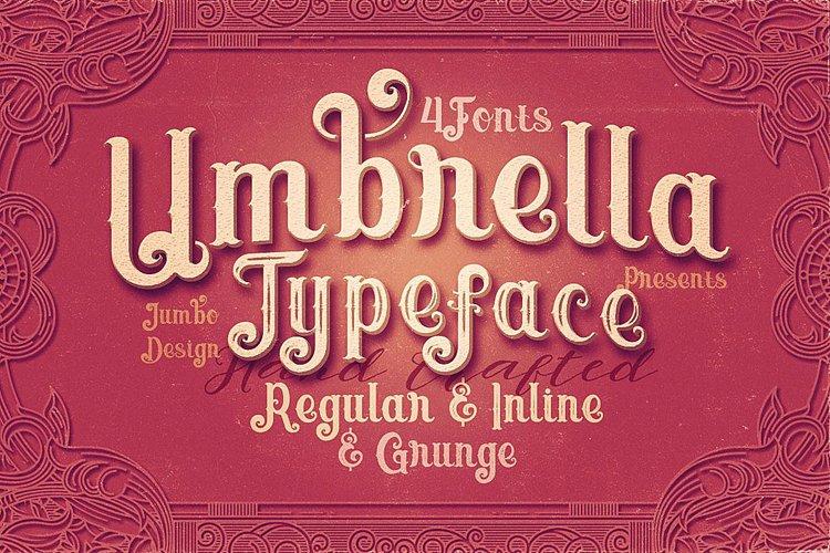 Umbrella - 4 Display Fonts example image 1