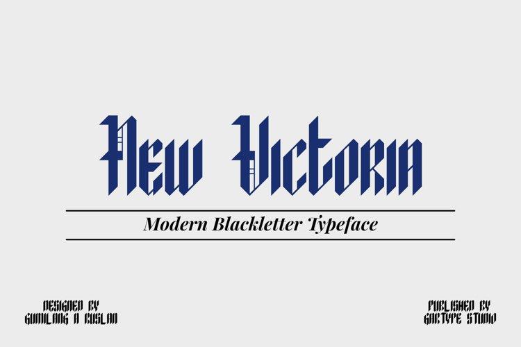 New Victoria - Modern Blackletter Font // Web Font example image 1