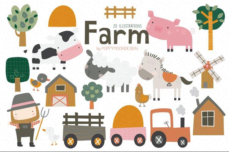 Farm Clipart and Paper set