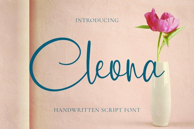 Web Font Cleona Font example image 1