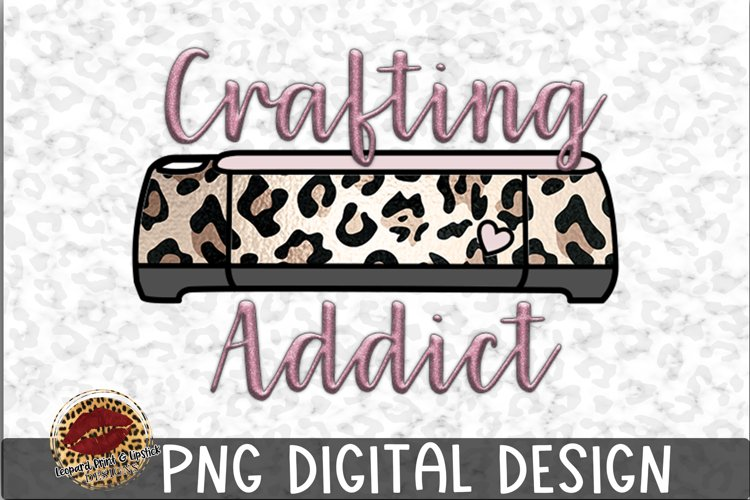 Sublimation Crafting Addict Pink Leopard