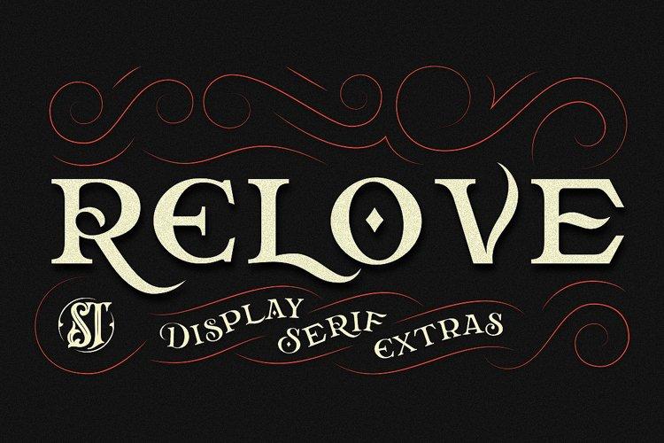 Relove Typeface + Extras