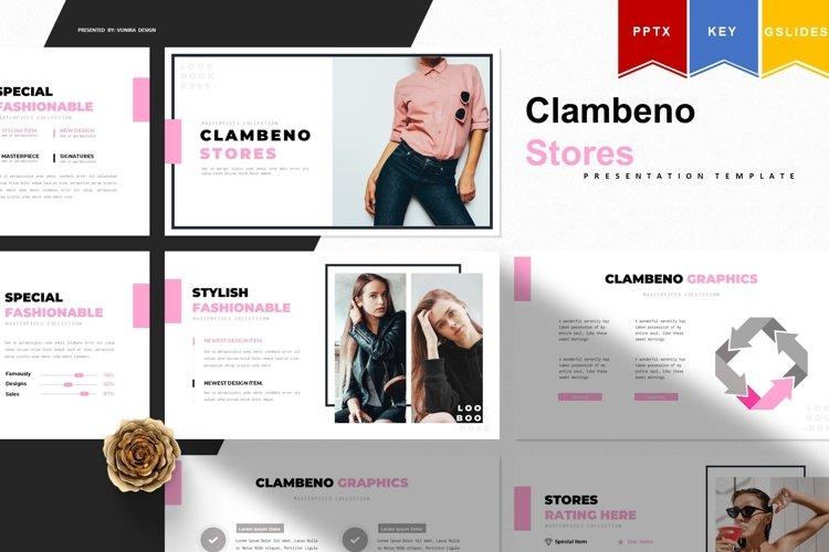 Clambeno | Powerpoint, Keynote, GoogleSlides Template example image 1