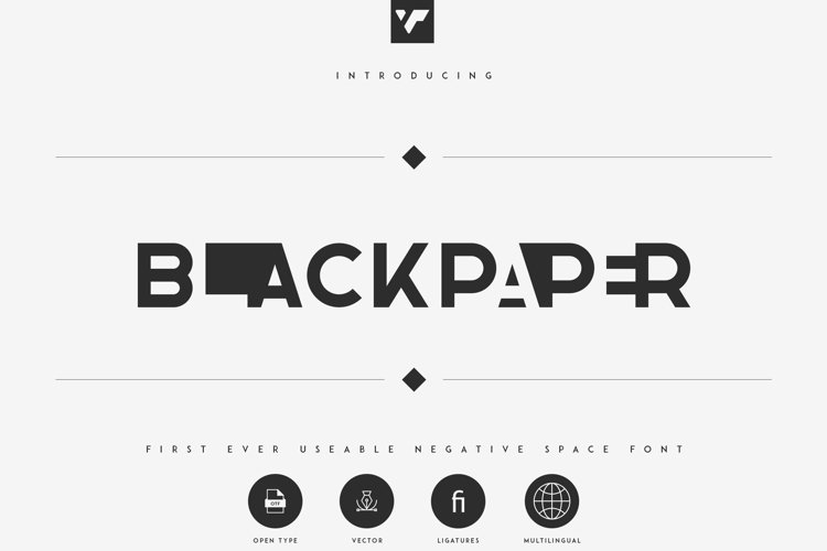 Blackpaper - 1st Negative Space Font example image 1