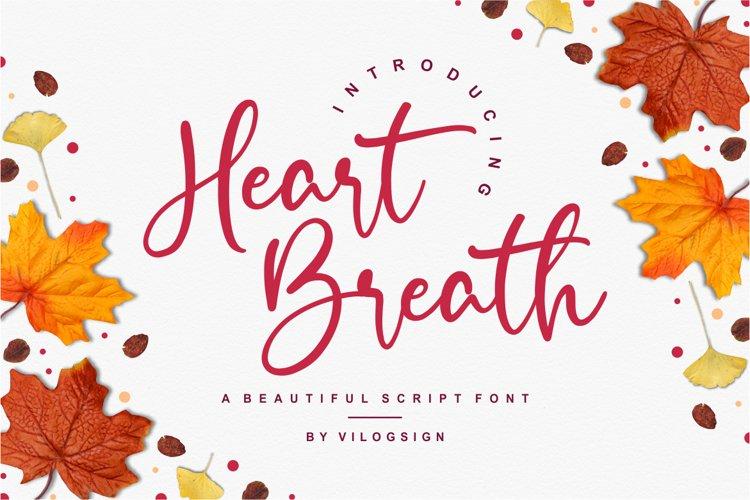 Heart Breath a Beautiful Script Font example image 1