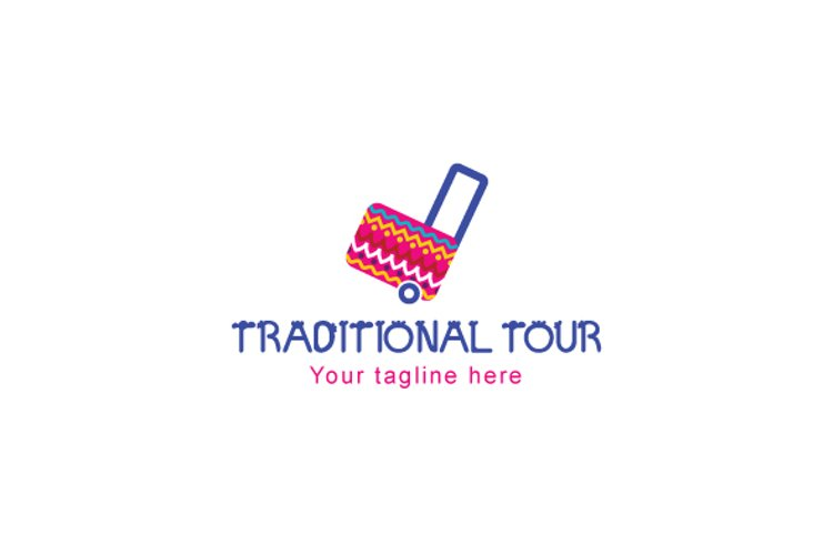 Traditional Tour - Colorful Embroidered Logo example image 1
