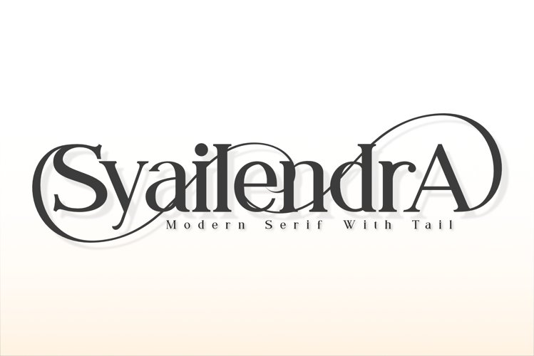 Syailendra - Modern Serif With Tail example image 1