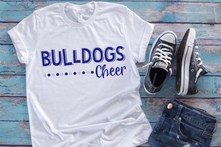 Cheerleader - Sports - Bulldogs Cheer SVG example image 1