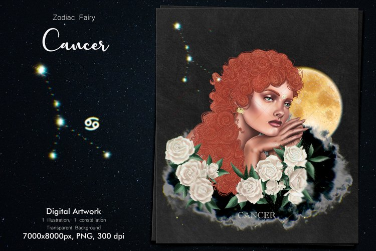 Zodiac Fairy Cancer example image 1