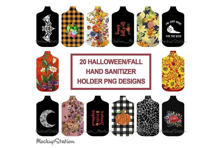 Fall Hand Sanitizer Holder Sublimation Designs Bundle PNG example image 1