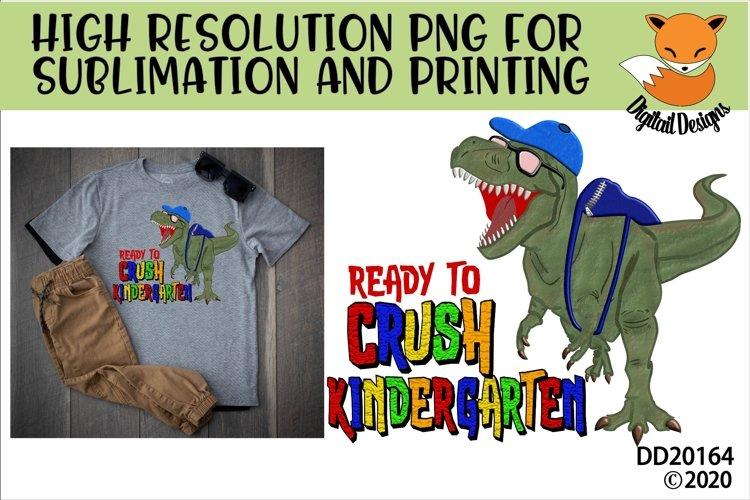 T-Rex Dinosaur Ready To Crush Kindergarten Sublimation example image 1