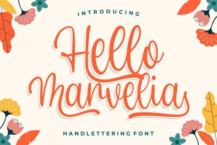 Hello Marvelia - Handlettering Font example image 1