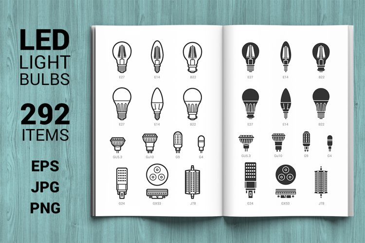 LED light bulbs big set