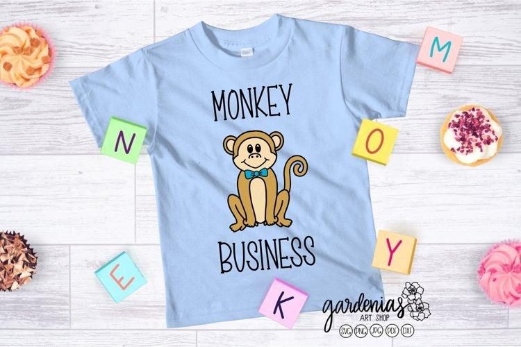 Boy Monkey SVG   Monkey Cut File   Monkey Clip Art