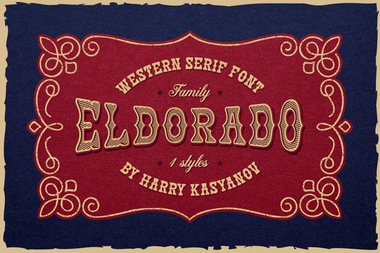 Eldorado Western Serif Font example image 1