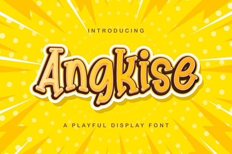 Angkise - Playful Display Font example image 1